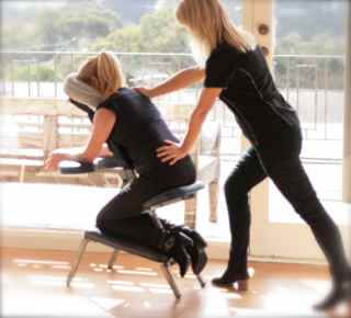 onsite corporate massage research and results, health benefits massage